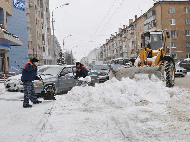 уборка снега экскаватор-погрузчик