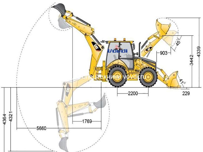 Схема Caterpillar 428F