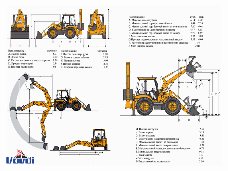 Схема JCB 4CX