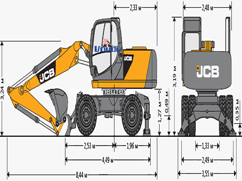 Схема JCB JS 160W