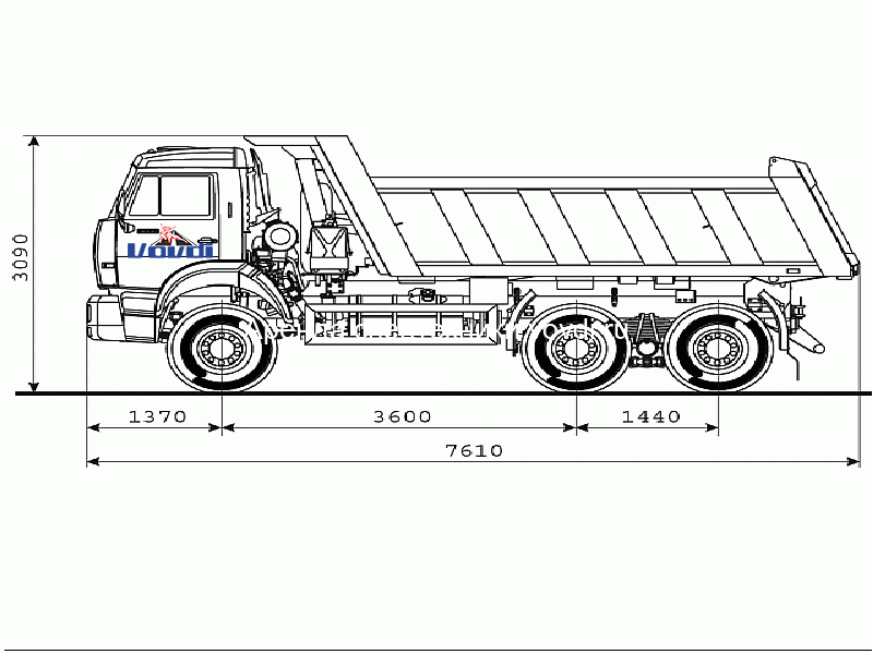 Схема КАМАЗ 6520