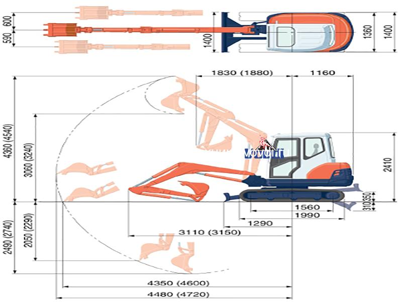 Схема Kubota KX61-3