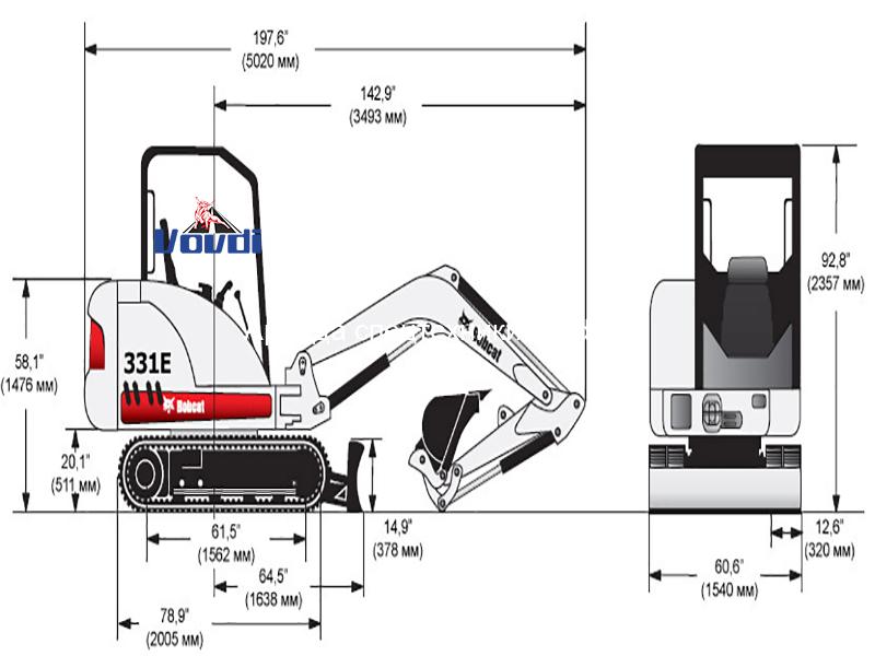 Схема Bobcat 331E