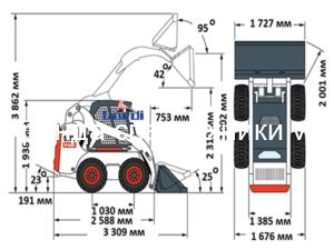 Схема Bobcat S175