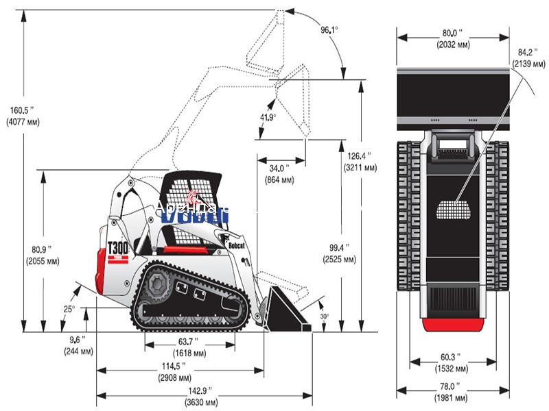 Схема Bobcat T300