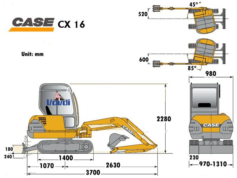 Схема Case CX16