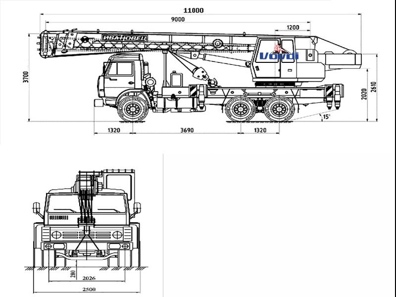 Схема Ивановец 25 тонн