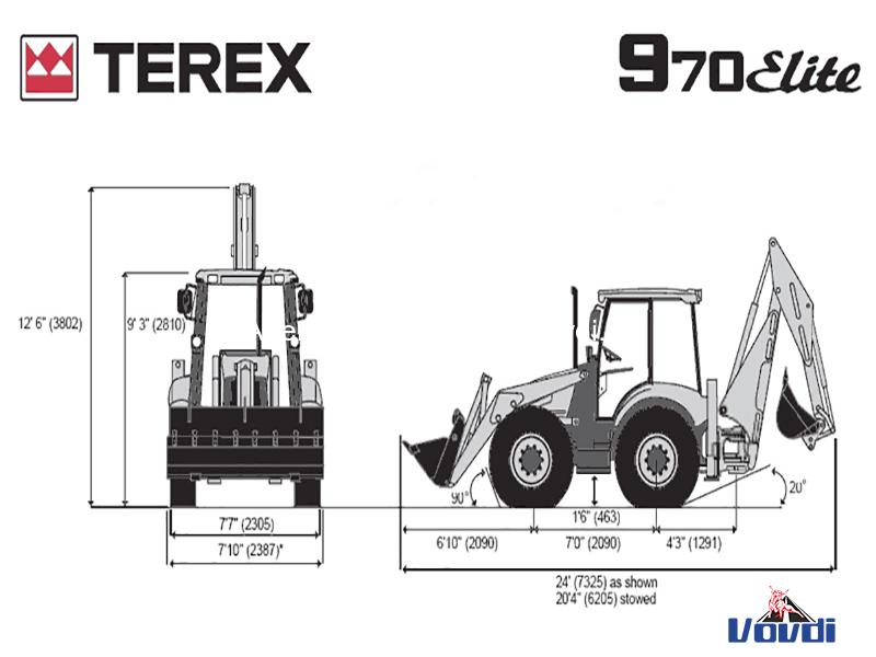 Схема Terex 970 Elite