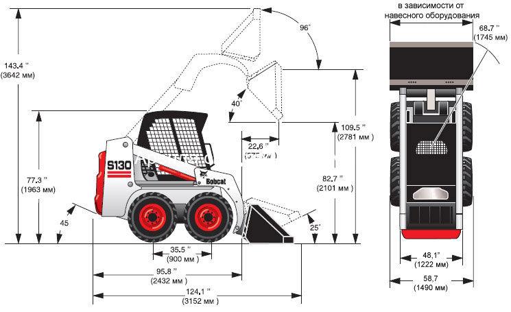 Схема Bobcat S130