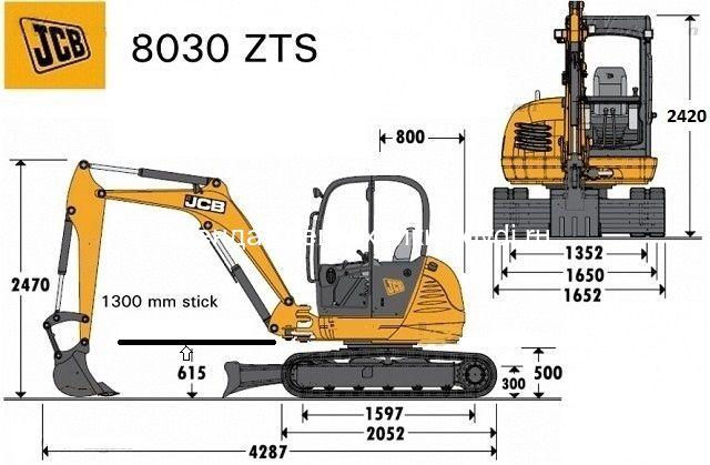 Схема JCB 8030