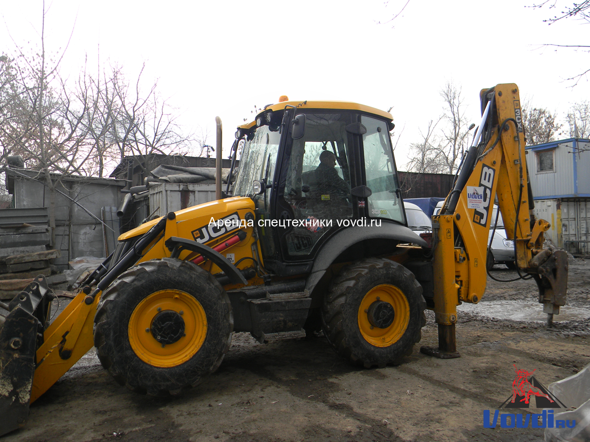 Трактор экскаватор JCB 3CX Super с гидромолотом